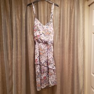A NEW DAY ASYMECTICAL FLORAL DRESS